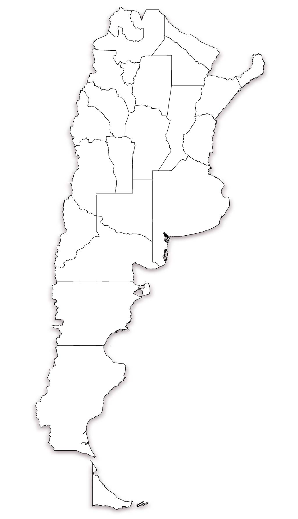 Blank Map Of Argentina Outline Map Of Argentina - Argentina map black and white