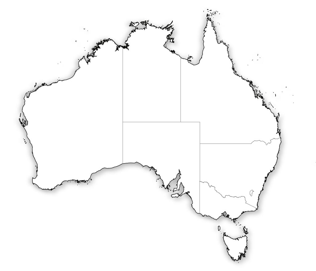 australia blank map printable Blank Map Of Australia Outline Map Of Australia australia blank map printable