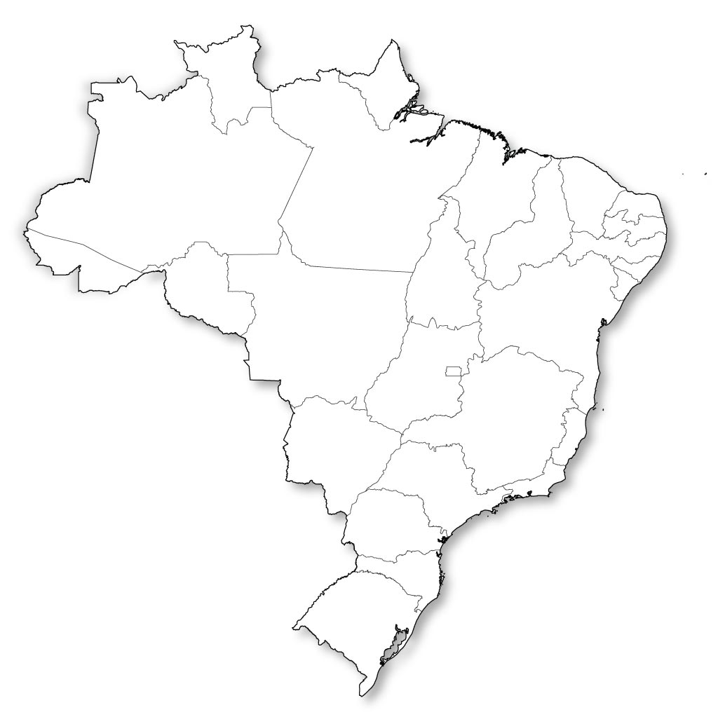 photograph regarding Brazil Flag Printable known as Blank Map of Brazil, Define Map of Brazil
