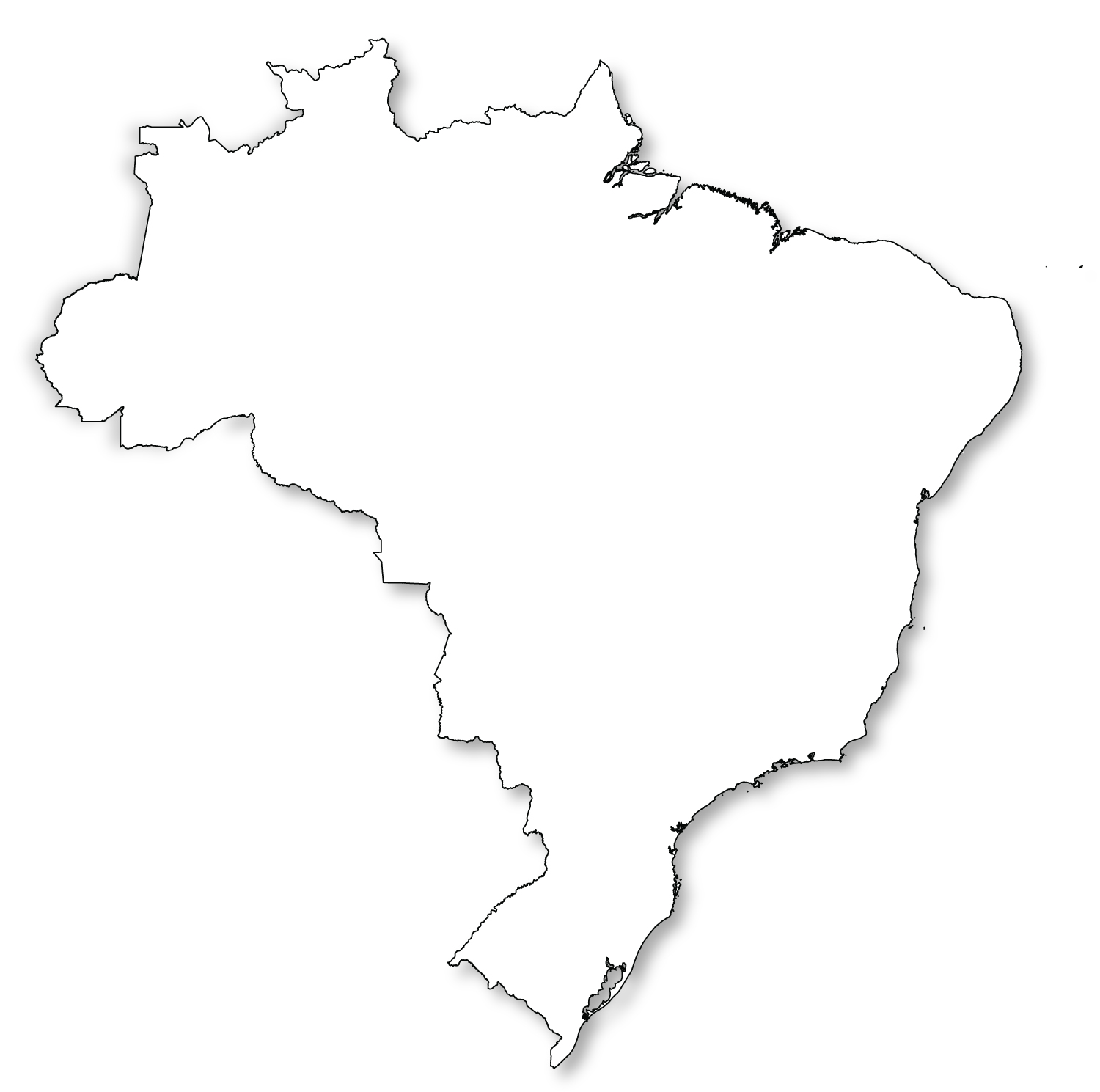 Outline map of brazil hd gumiabroncs Gallery
