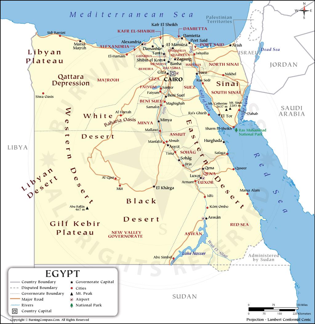 Egypt Map