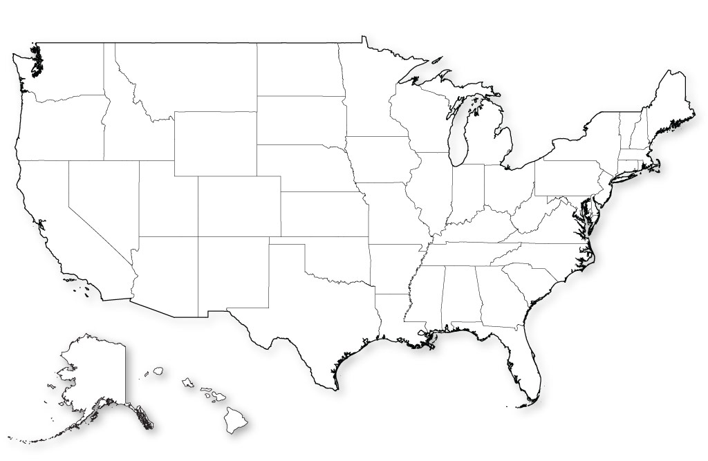 This is a picture of Mesmerizing Us Map Blank Printable