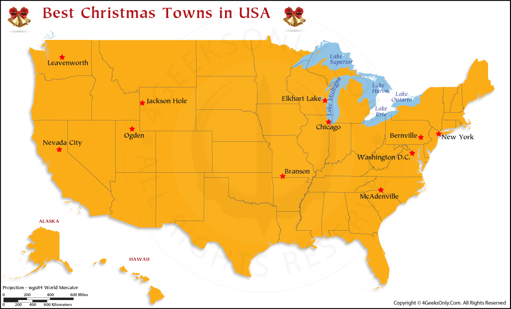 Christmas Towns in USA
