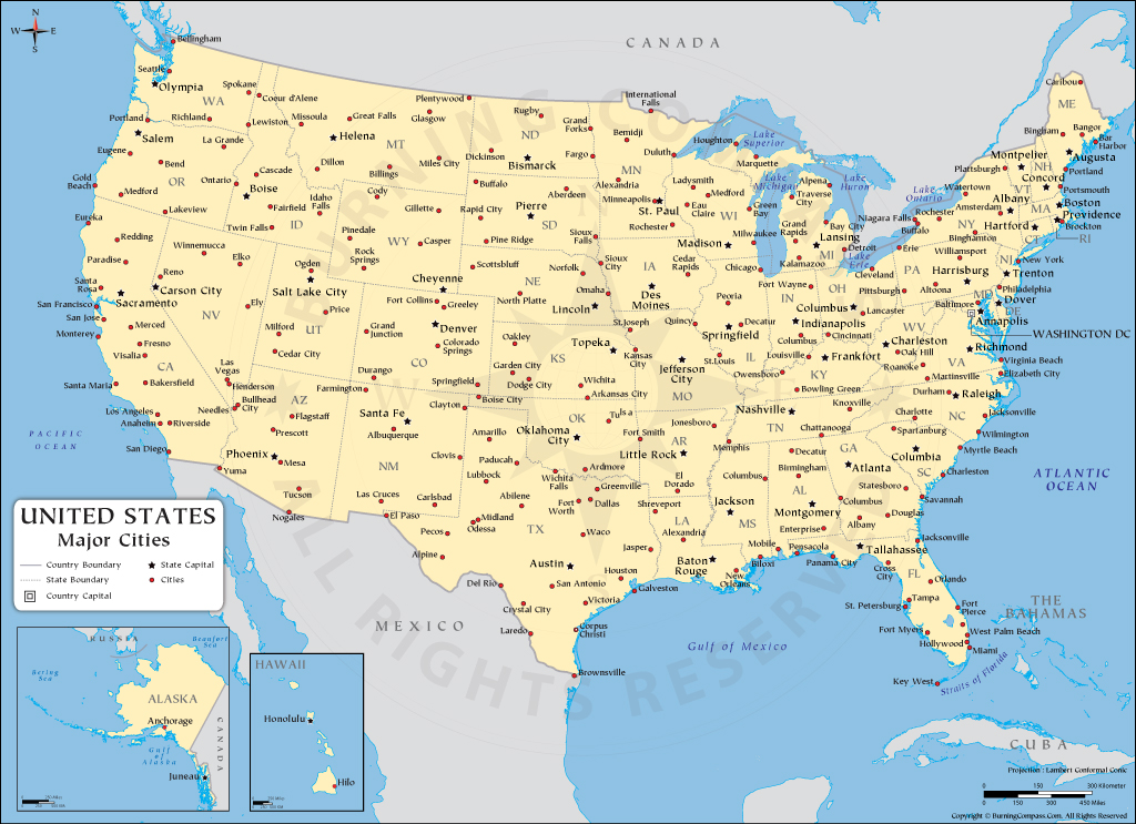 US Cities Map