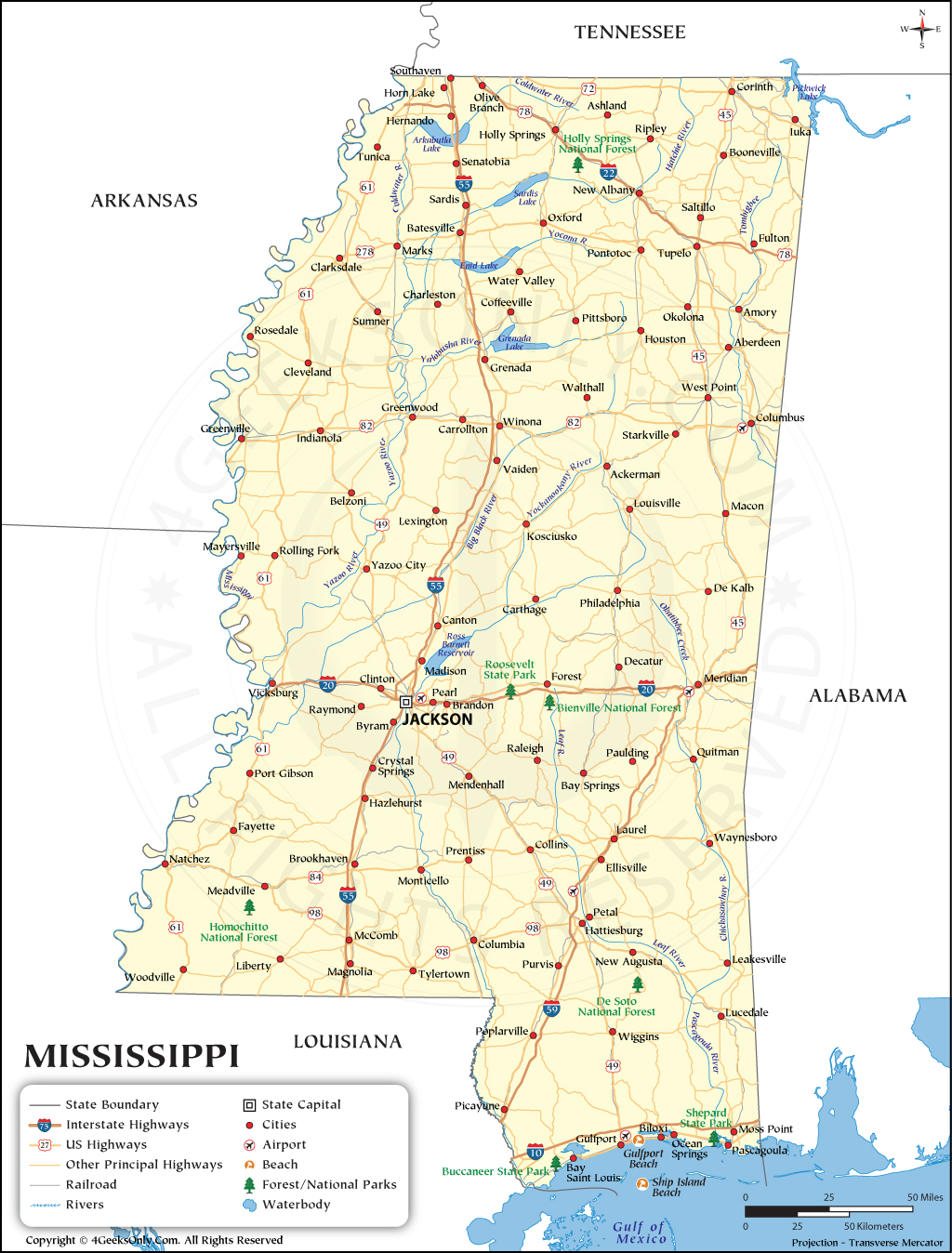 Mississippi Map