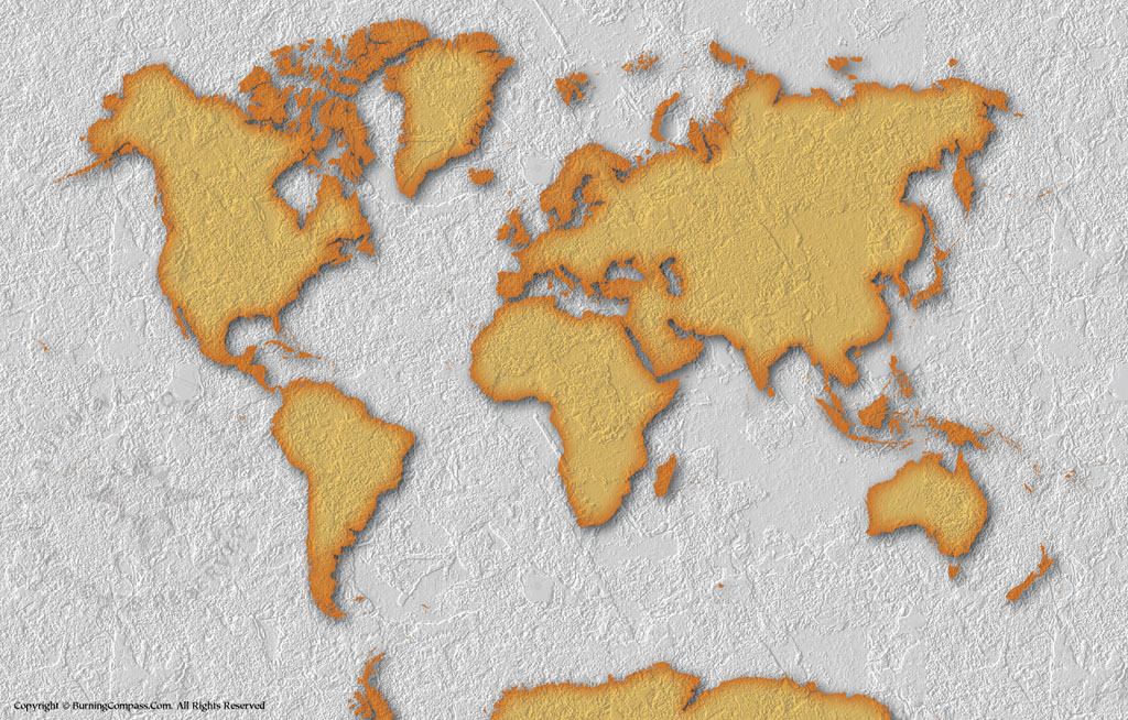 World Map Wallpaper with Stone Background