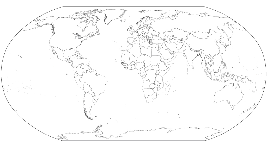 Blank Map of the World in Robinson