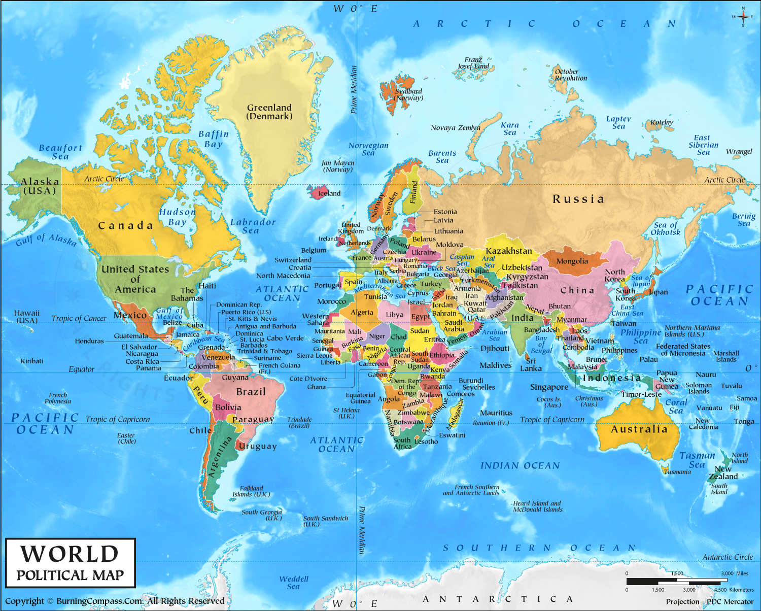 World Map HD